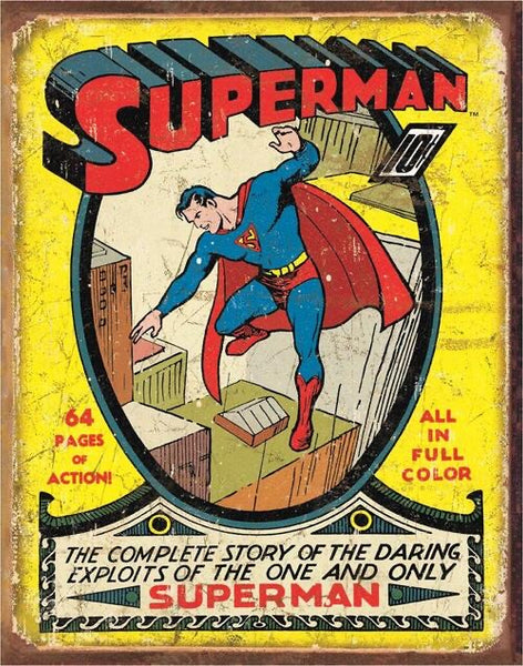 SUPERMAN TIN SIGN METAL ART WESTERN HOME DECOR CRAFT