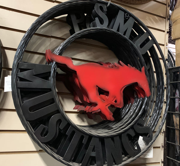 "12"",18"",24"",32"" SMU MUSTANGS METAL CUSTOM VINTAGE CRAFT OFFICIAL LICENSED PRODUCT"