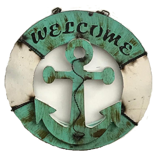 "15"" WELCOME METAL SIGN WALL ART WESTERN HOME DECOR BRAND NEW"
