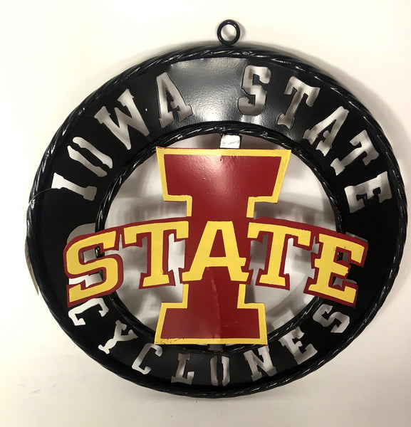 "12"", 18"", 24"", 32"" IOWA STATE CYCLONES METAL TEAM COLLEGE WESTERN HOME DECOR WALL ART BRAND NEW"