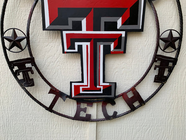 "12"", 18"", 24"", 32"" TEXAS TECH CUSTOM VINTAGE CRAFT METAL TEAM SIGN"