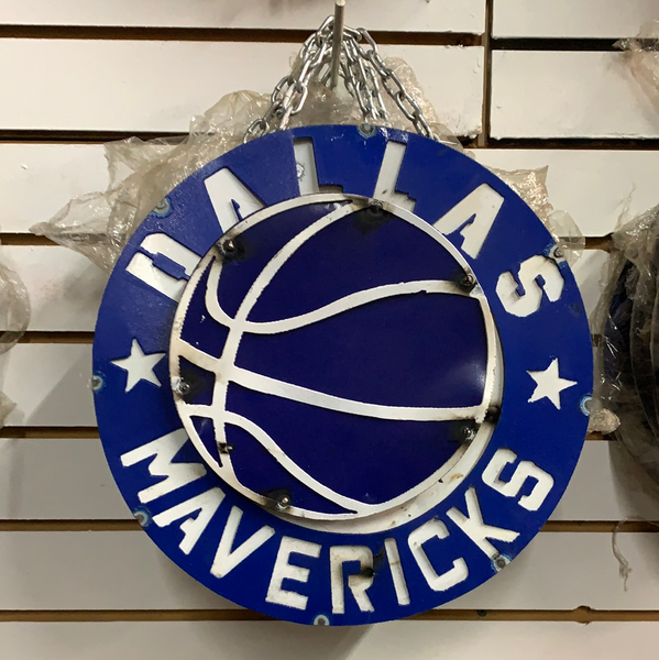 "12"" DALLAS MAVERICKS DISC CUSTOM VINTAGE METAL TEAM DISC WALL ART WESTERN HOME DECOR CRAFT HANDMADE"