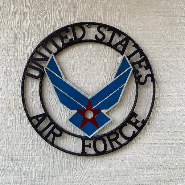 "24"" US AIRFORCE MILITARY CUSTOM VINTAGE METAL CRAFT WALL ART WESTERN HOME DECOR HANDMADE"