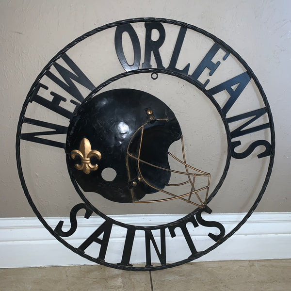 "18"", 24"", 32"" NEW ORLEANS SAINTS METAL WALL ART WESTERN HOME DECOR VINTAGE RUSTIC BROWN ART NEW"