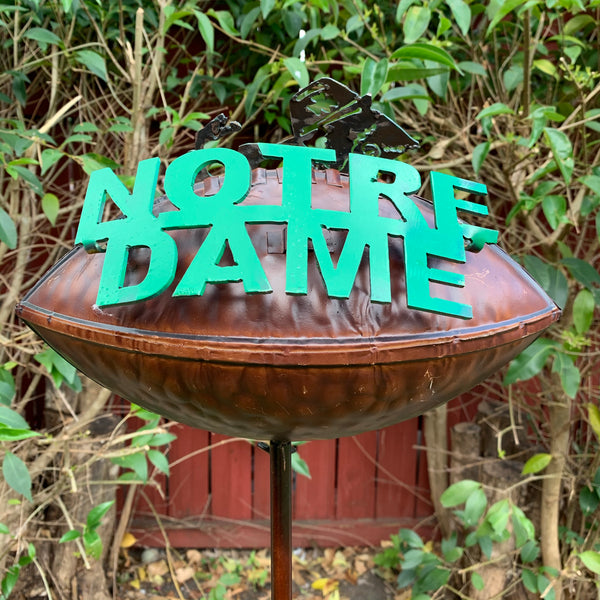 NOTRE DAME METAL GARDEN STAKE TEAM DECOR WESTERN HOME DECOR NEW