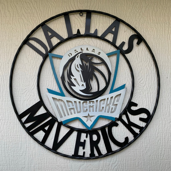"18"", 24"", 32"" DALLAS MAVERICKS CUSTOM METAL VINTAGE CRAFT TEAM ART OFFICIAL LICENSED DECOR"