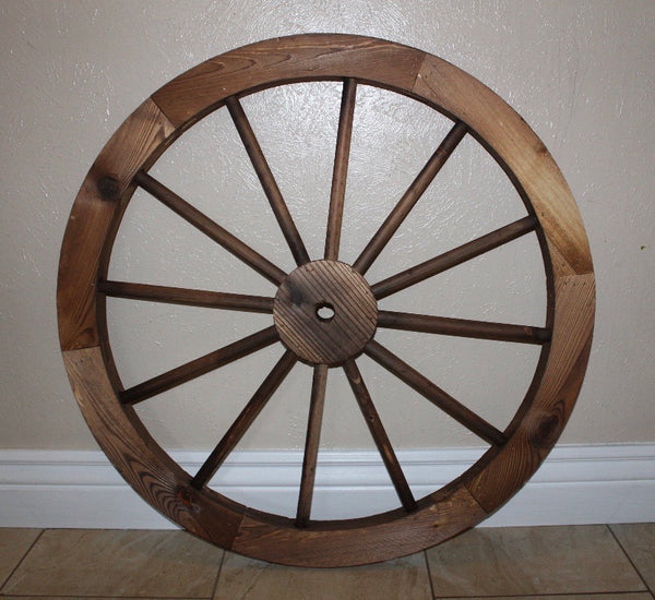 "WAGON WHEEL BARN WOOD WESTERN HOME DECOR RUSTIC NATURAL NEW 24"", 30"" STYLES"