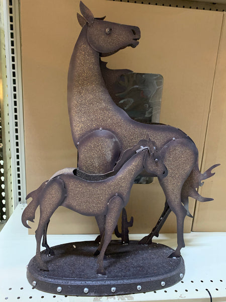 "25"" HORSE STATUE ANIMAL SCULPTURE METAL DECOR ORNAMENT OUTDOOR OR INDOOR TEXAS YARD ART"