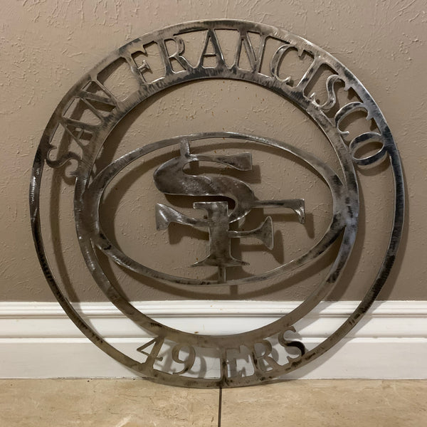 "12"", 18"", 24"", 32"" SAN FRANCISCO 49ERS METAL SIGN VINTAGE CUSTOM TEAM ART"