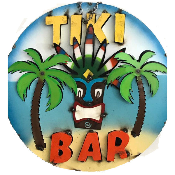 "15"" TIKI BAR METAL SIGN WALL ART WESTERN HOME DECOR BRAND NEW"