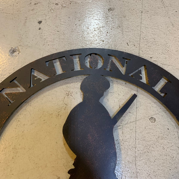 "24"" ARMY NATIONAL GUARD CUSTOM METAL VINTAGE CRAFT METAL WALL ART WESTERN HOME DECOR"