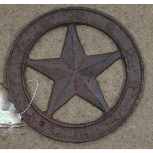 "6.5"" CAST IRON METAL STAR WESTERN HOME DECOR CRAFT"