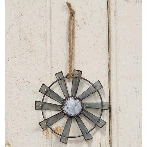 "4"" WINDMILL ORNAMENT FARMHOUSE METAL ART WESTERN HOME DECOR RUSTIC CRAFT"