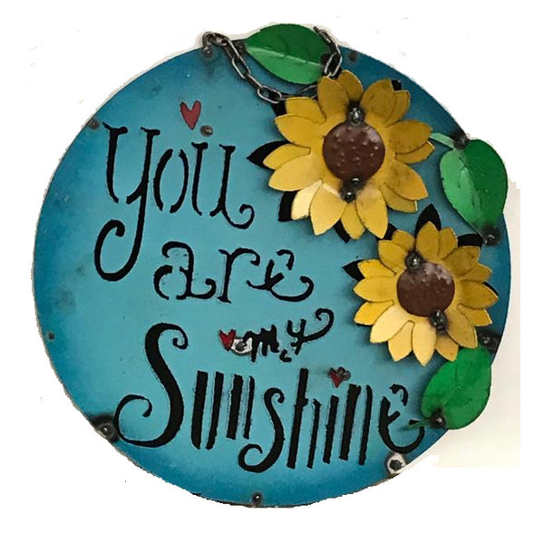 "15"" YOU ARE SUNSHINE METAL SIGN WALL ART WESTERN HOME DECOR BRAND NEW"