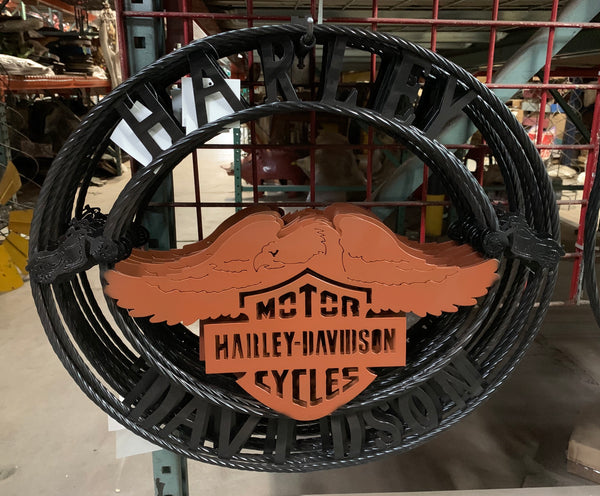 "24"",32"" HARLEY DAVIDSON METAL ART WESTERN HOME DECOR NEW"