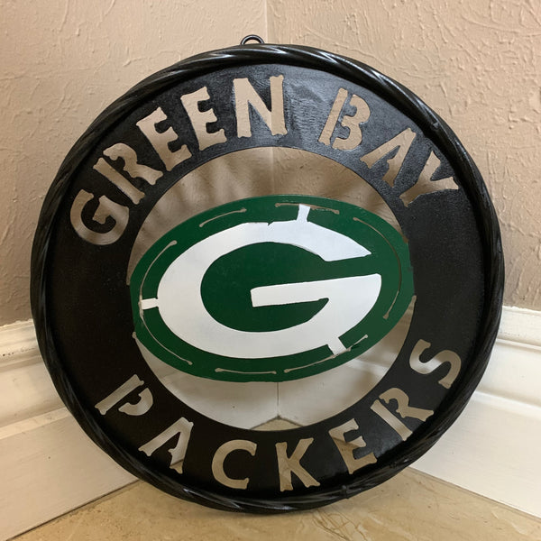 "12"",18"",24"",32"" GREEN BAY PACKERS DISC METAL CUSTOM VINTAGE CRAFT TEAM SPORTS SIGN HANDMADE"