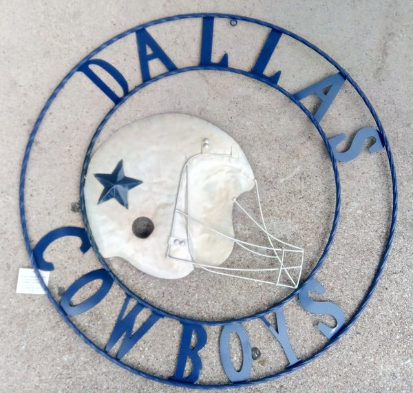"24"", 32"" DALLAS COWBOYS FOOTBALL TEAM DECOR METAL ART WESTERN HOME WALL DECOR NEW"