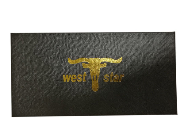 WESTERN CROSS CHECKBOOK BI FOLD MEN'S & WOMEN'S GENUINE LEATHER TAN WALLET NEW