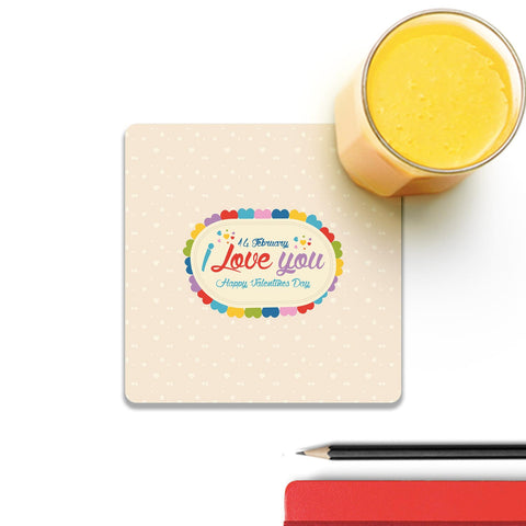 14 Feb I Love You Valentine Day Coaster