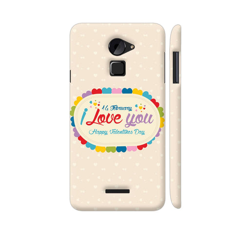14 Feb I Love You Valentine Day Coolpad Note 3 Lite Cover | Artist: Designer Chennai