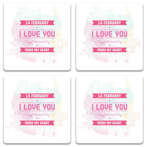 14 Feb Valentine Day From My Heart Coaster (Set of 4)