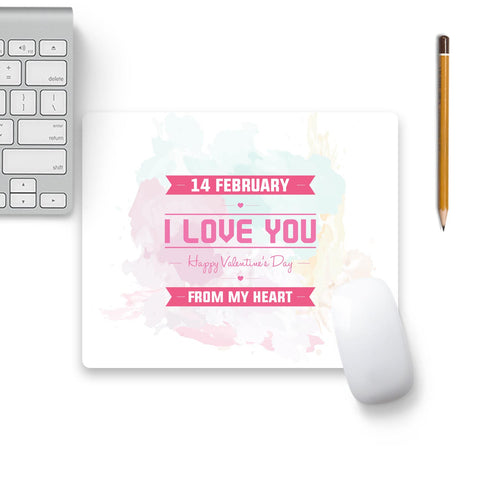 14 Feb Valentine Day From My Heart Mouse Pad Beige Base