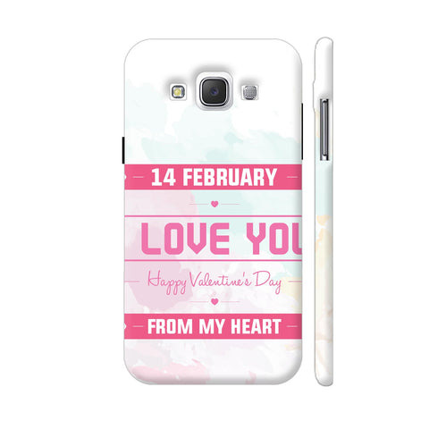 14 Feb Valentine Day From My Heart Samsung Galaxy E5 Case