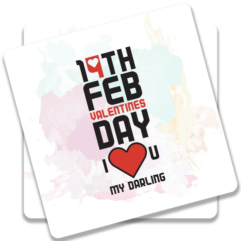 14 Feb Valentines Day Darling Coaster (Set of 2)