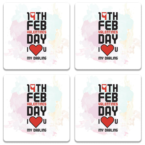 14 Feb Valentines Day Darling Coaster (Set of 4)