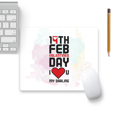 14 Feb Valentines Day Darling Mouse Pad Beige Base