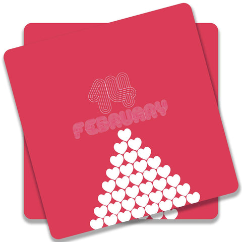 14 February Heart Stack Coaster (Set of 2)