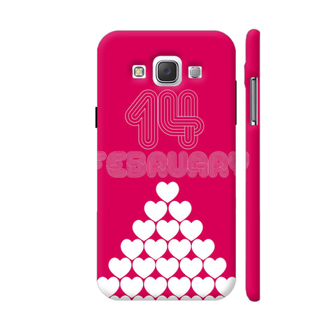 14 February Heart Stack Samsung Galaxy E5 Case