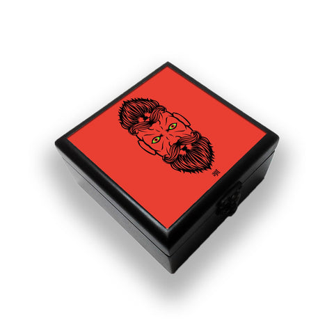 2 Beardiful On Red Jewellery Box
