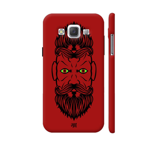 2 Beardiful On Red Samsung Galaxy E5 Case