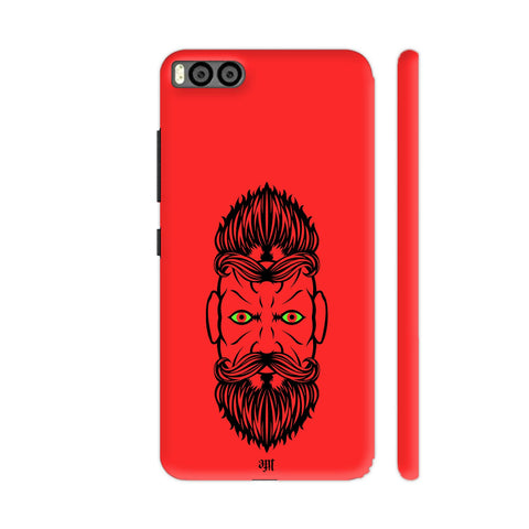 2 Beardiful On Red Xiaomi Mi 6 Cover | Artist: Art Life