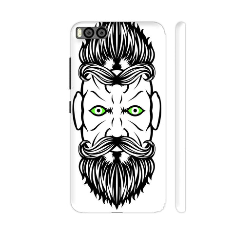 2 Beardiful On White Xiaomi Mi 6 Cover | Artist: Art Life
