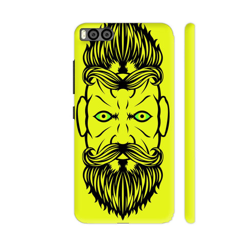 2 Beardiful On Yellow Xiaomi Mi 6 Cover | Artist: Art Life