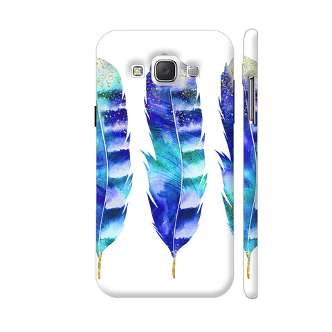 3 Blue Flowers Samsung Galaxy E5 Case