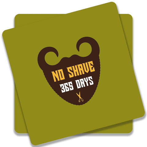 365 Days Of Beard No Shave Coaster (Set of 2)
