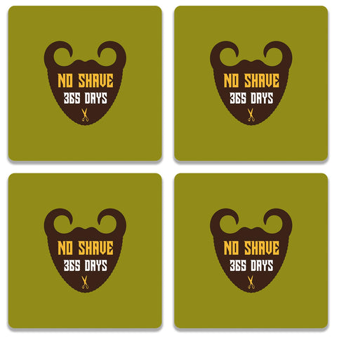 365 Days Of Beard No Shave Coaster (Set of 4)