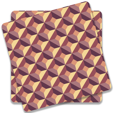3D Abstract Design Coaster (Set of 2)