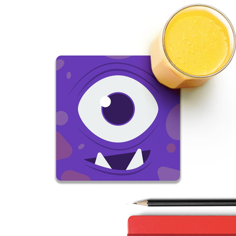 A Cute One Eye Monster Coaster