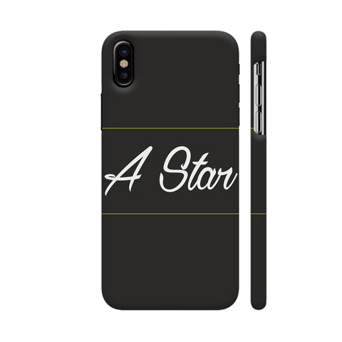 A Star iPhone X Cover | Artist: Astha