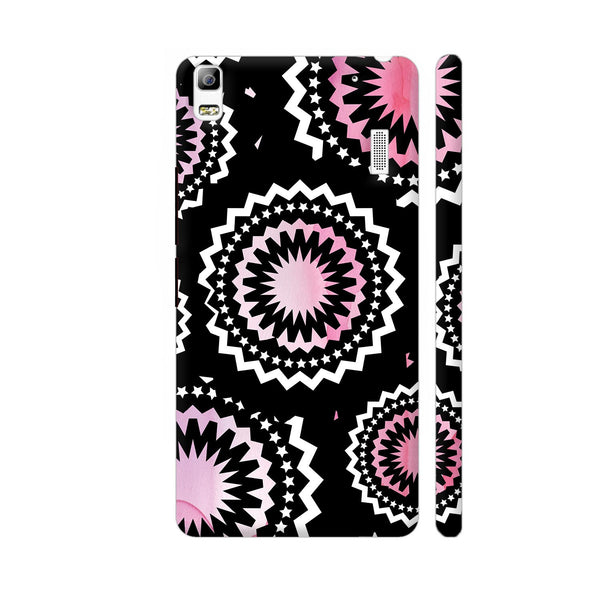 Abstract Circles Or Mechanical Gears In Pink Lenovo A7000 Cover | Artist: Urvashi