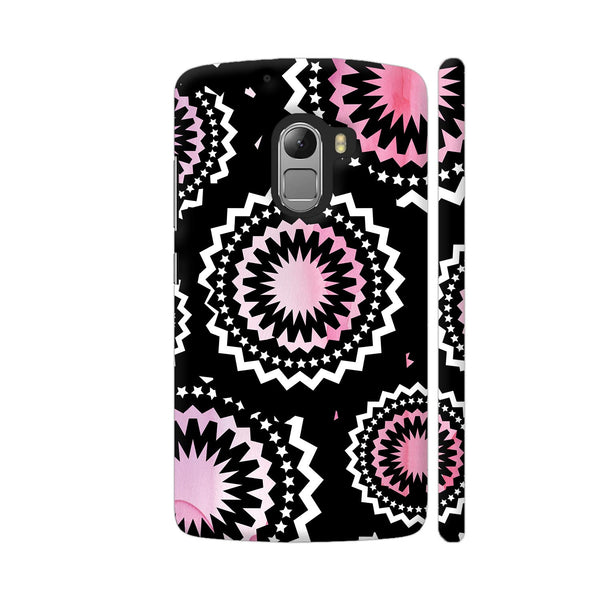 Abstract Circles Or Mechanical Gears In Pink Lenovo K4 Note Cover | Artist: Urvashi