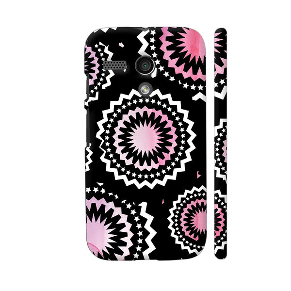 Abstract Circles Or Mechanical Gears In Pink Motorola Moto G1 Case