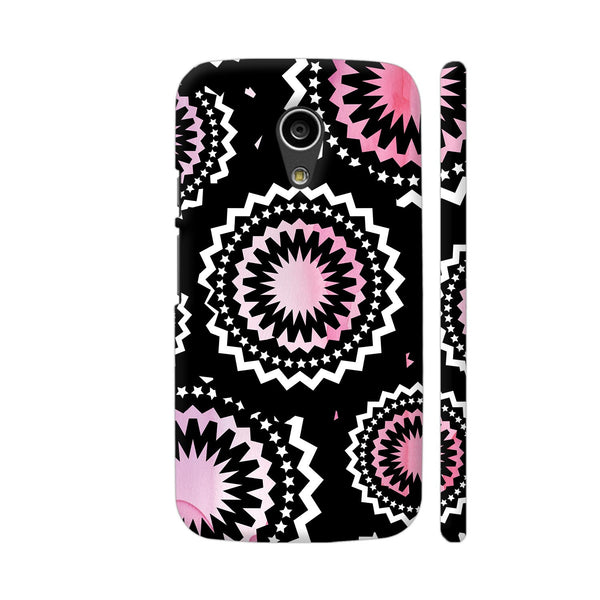Abstract Circles Or Mechanical Gears In Pink Moto G2 Cover | Artist: Urvashi