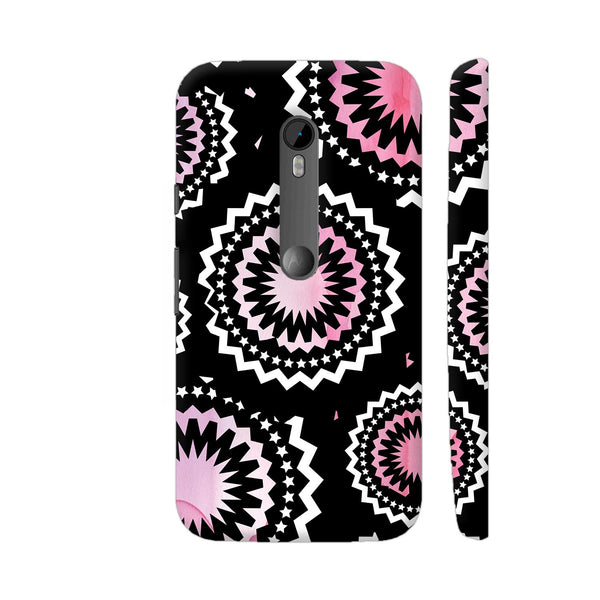 Abstract Circles Or Mechanical Gears In Pink Moto G Turbo Cover | Artist: Urvashi