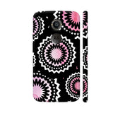 Abstract Circles Or Mechanical Gears In Pink Moto X2 Cover | Artist: Urvashi