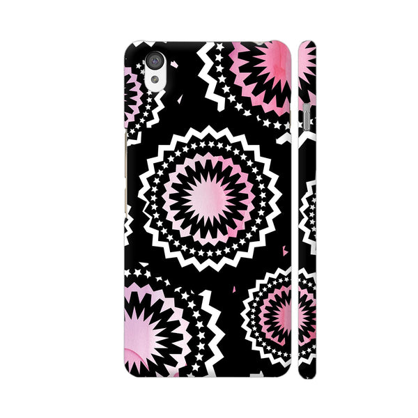 Abstract Circles Or Mechanical Gears In Pink OnePlus X Cover | Artist: Urvashi